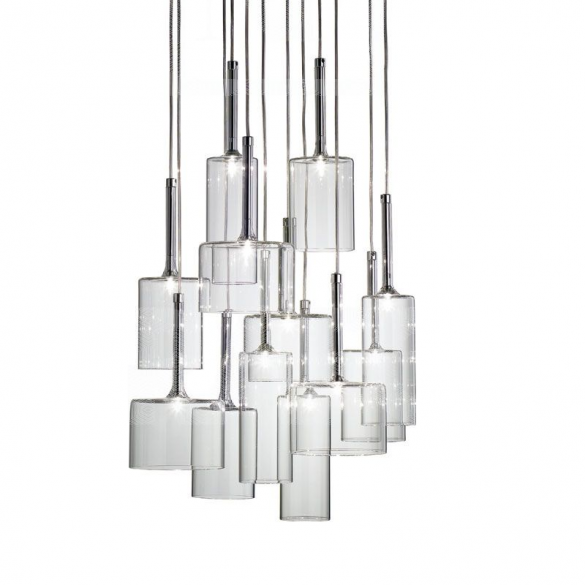 Spillray clear glass 12light