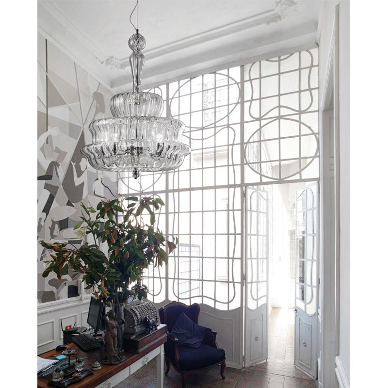 Novecento Chandelier In Situ Clear