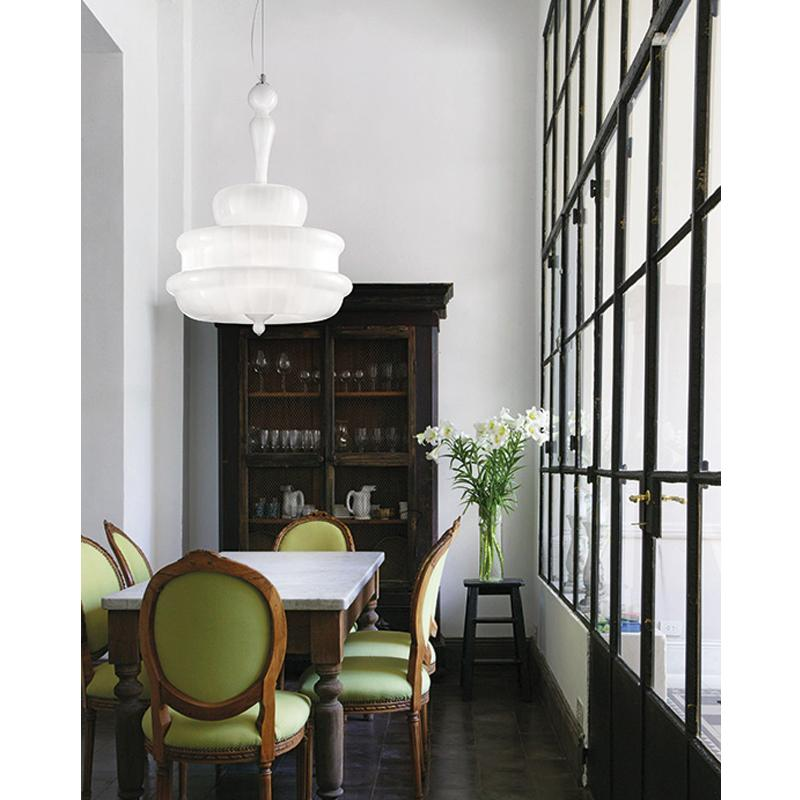 Novecento Chandelier In Situ White