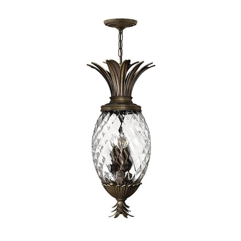 Plantation 4 Light Pendant Pearl Bronze