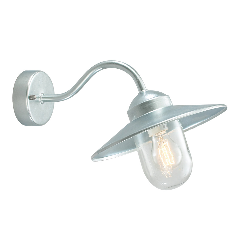 galvanized exterior wall light