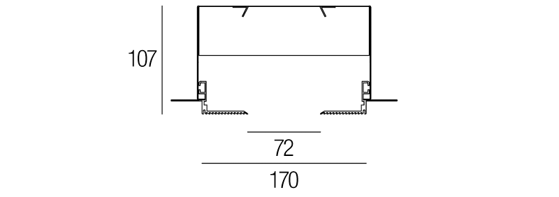 72 Trimless Track System Dimensions