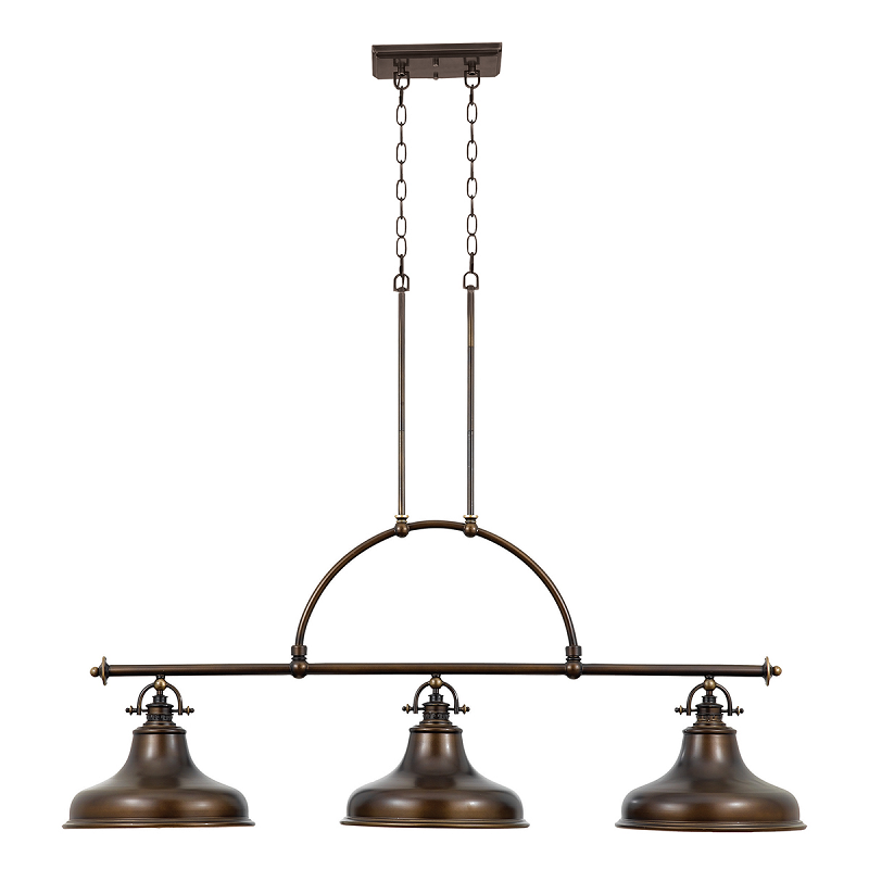 Emery 3 Light Island Pendant Palladian Bronze