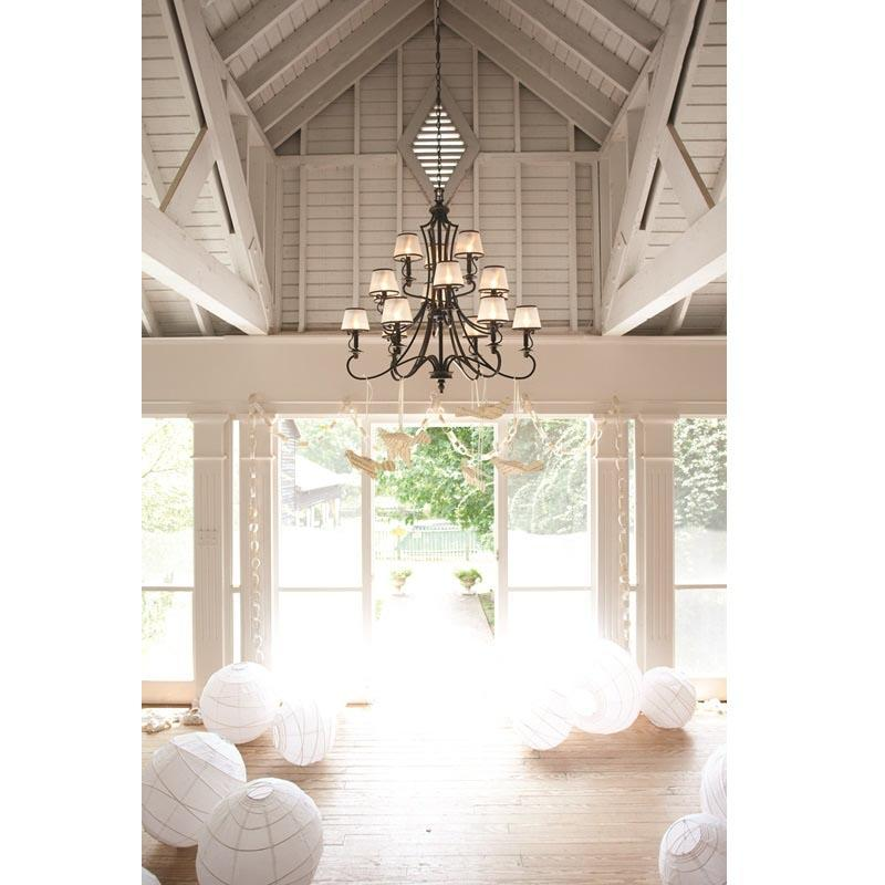 Plymouth 15 Light Chandelier insitu