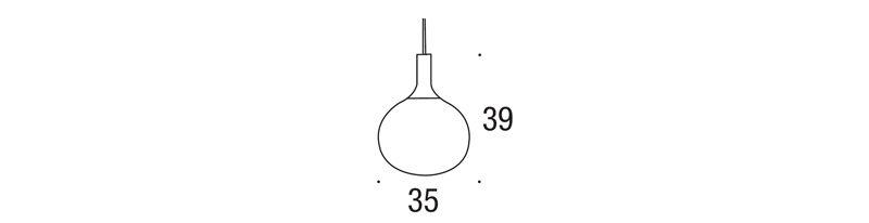 Dee Glass Pendant Dimensions