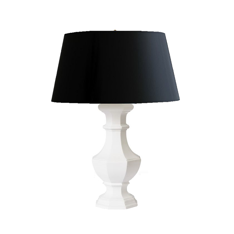 Madrid White Lamp Base & Empire Shade