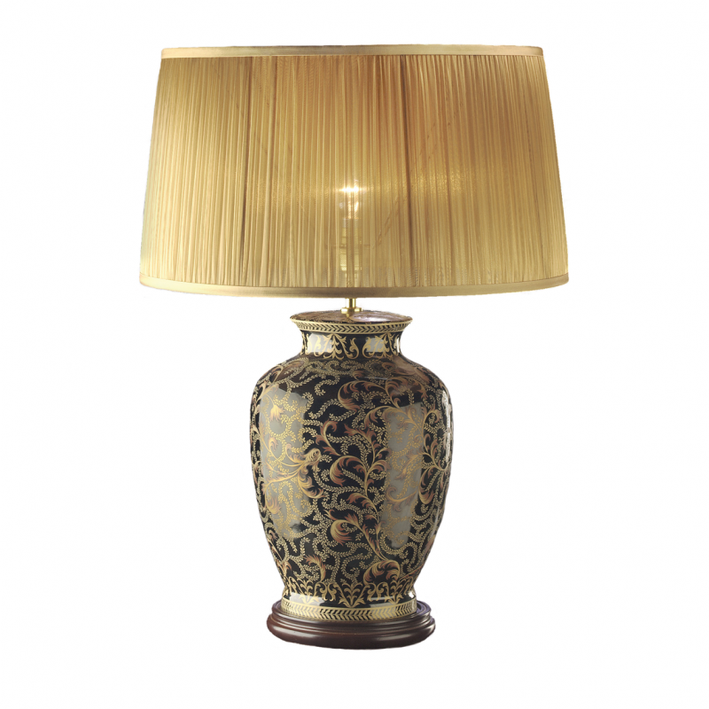 Morris Black & Gold Lamp Base