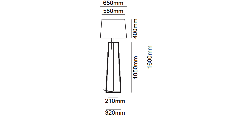 Tiffany Floor Lamp Dimensions
