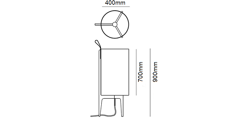 Greta Floor Lamp Dimensions