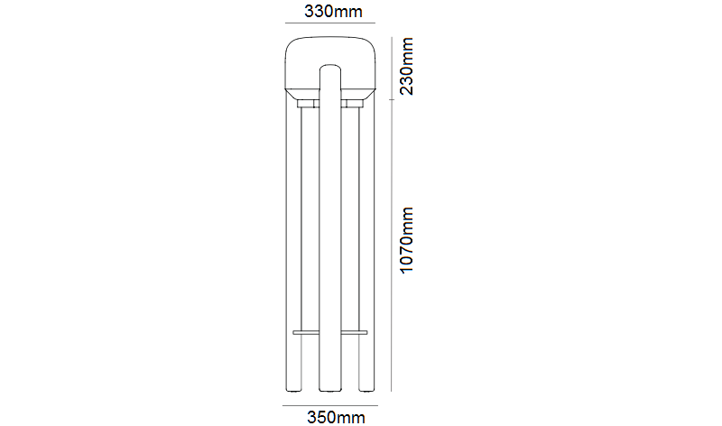 Sata Floor Lamp Dimensions