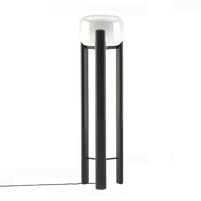Sata Floor Lamp Black & White
