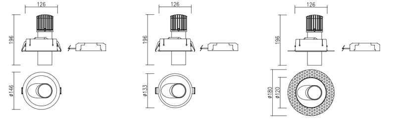 Beco Downlight Dimensions