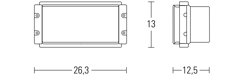 Kit Open Face dimensions