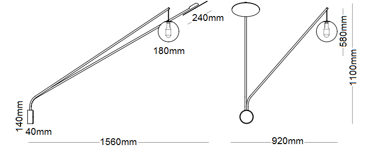 Inti Wall Round Dimensions