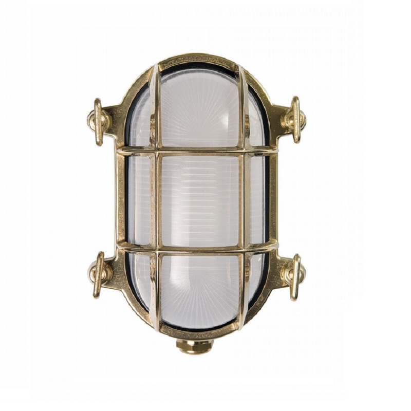 Brass oval wall light