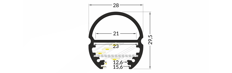 Oval20 Dimensions