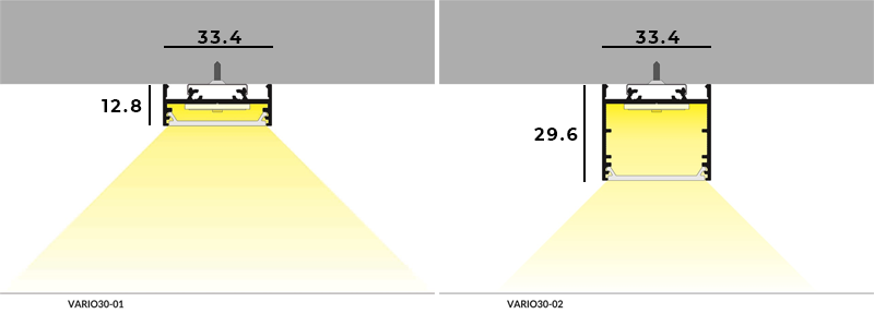 Vario30 Surface Dimensions