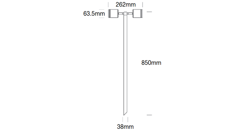 Hunza Twin Pole Lite Dimensions