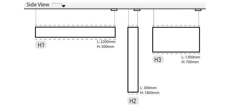 HSeries H1,H2 and H3 Dimensions