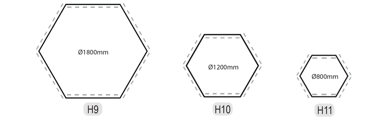 HSeries Hexagon Dimensions