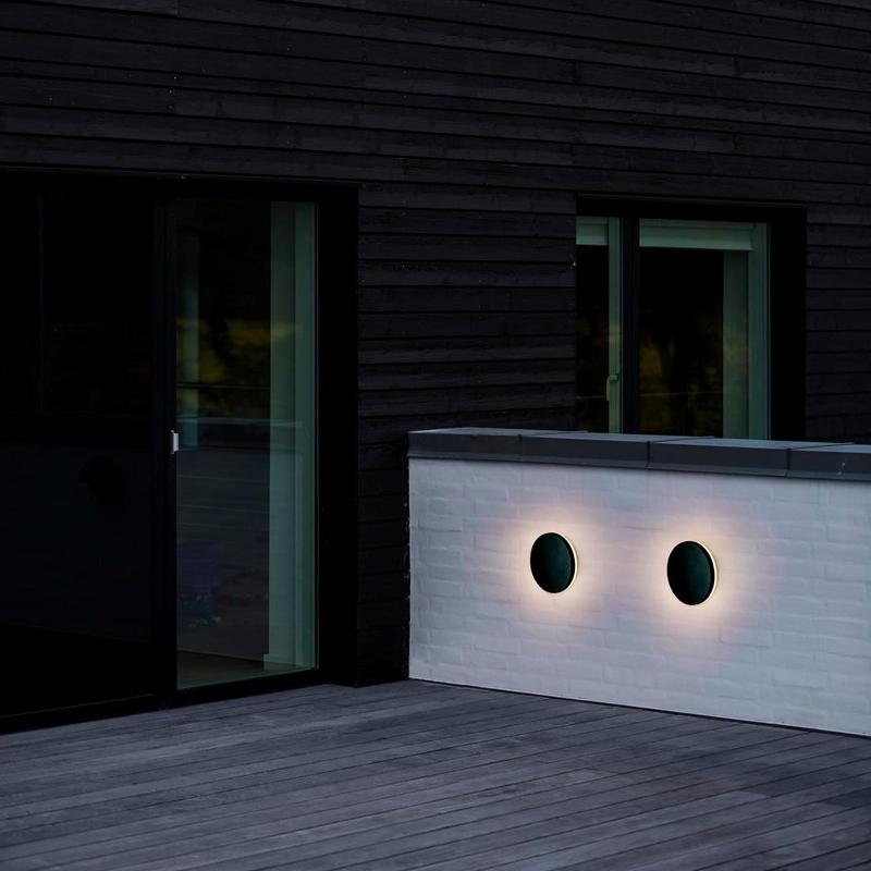 Two Wall Lights on Balcony