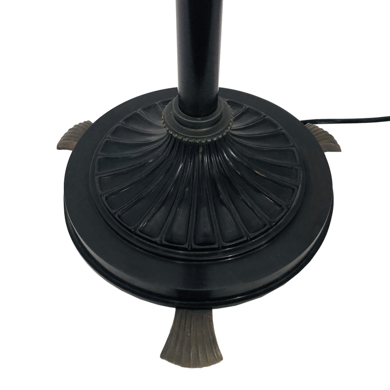 Shell Footed Bronze Floor Lamp Base detail