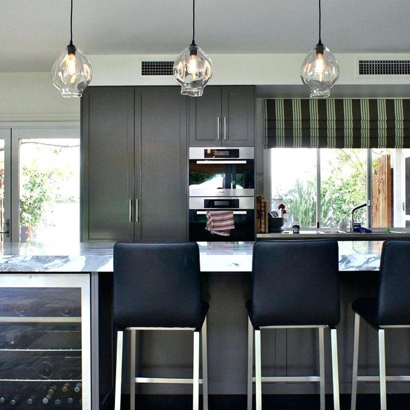 Pendants over kitchen island