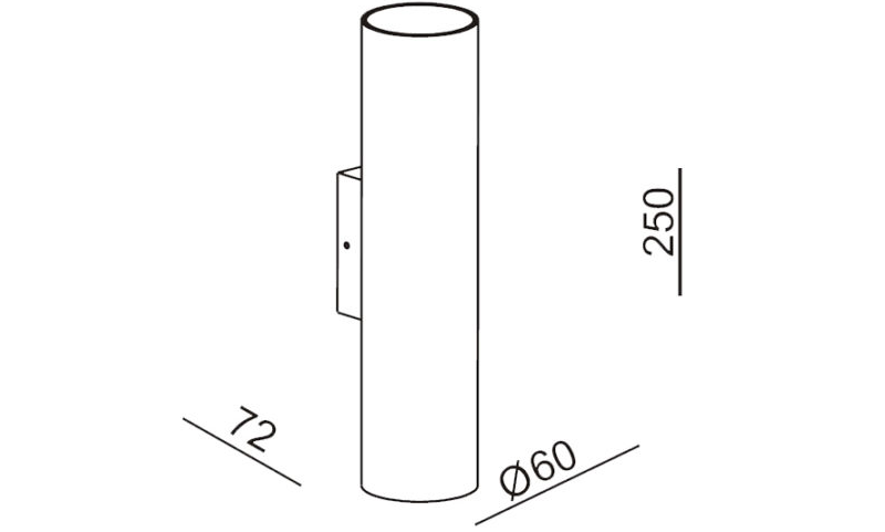 Kanon Up/Down Wall Light Dimensions