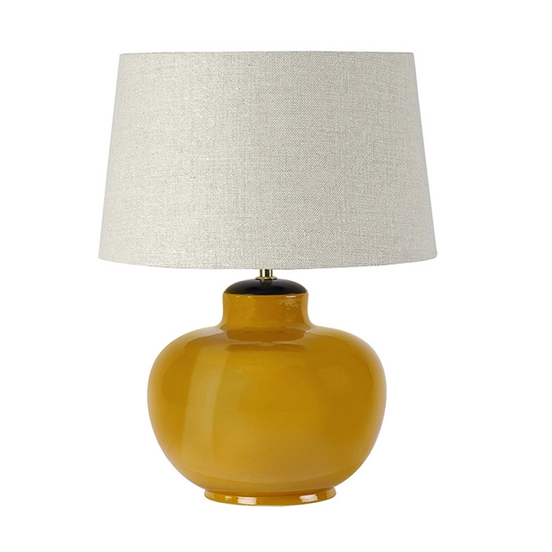 Ochre Porcelain Table Lamp & Shade