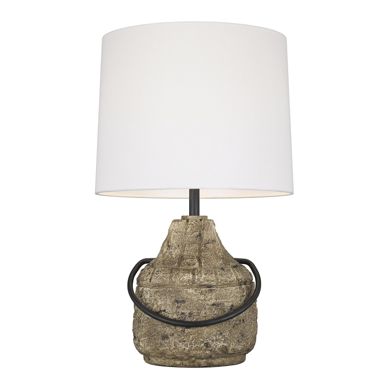Augie Stone Table Lamp Base & Shade