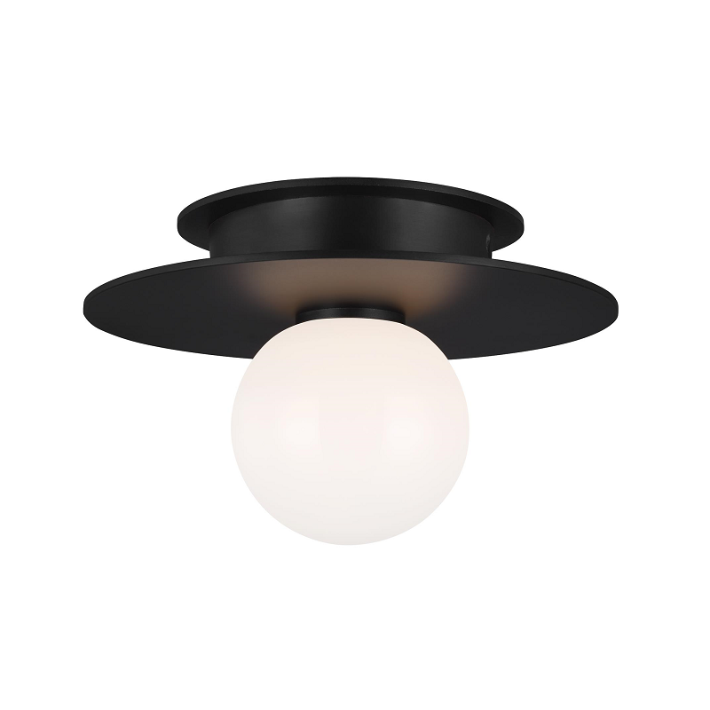 Nodes Small Flush Mount - Black