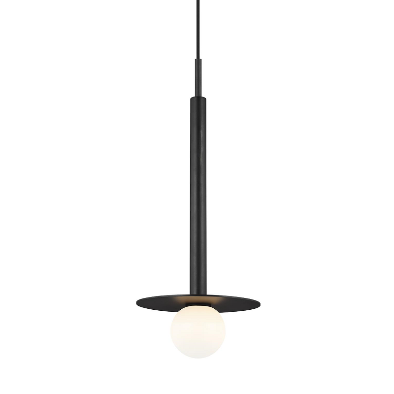 Nodes Short Pendant - Black