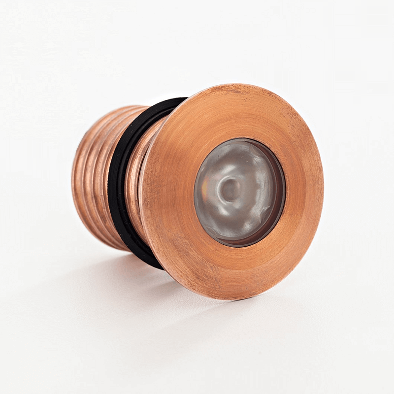 Copper recessed steplight