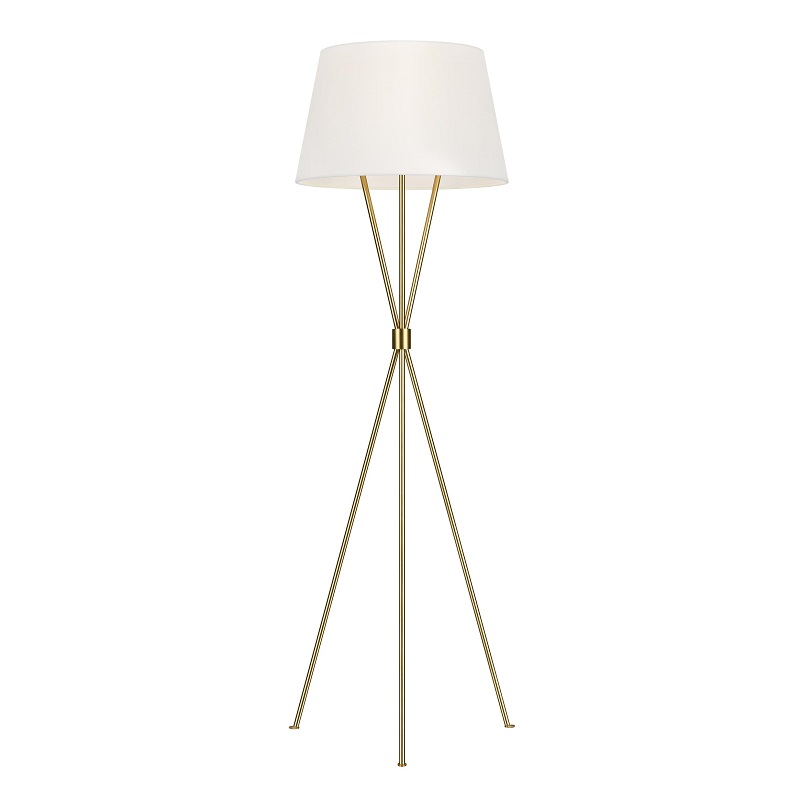 Penny Floor Lamp - Burnished Brass