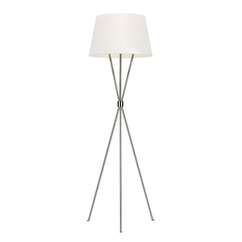 Penny Floor Lamp - Polished Nickel