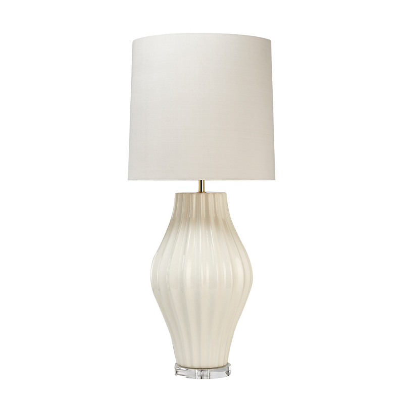 Ostuni Cream Crackle Table Lamp