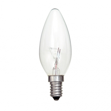 Candle 25w incandescent E14 clear