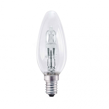 E14 Halogen candle clear
