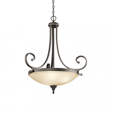 Monroe 3 Light Inverted Pendant OZ