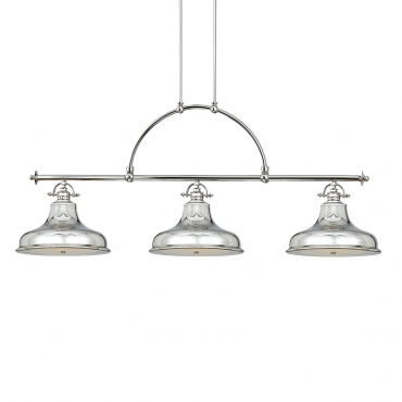 Emery 3 Light Island Pendant Imperial Silver