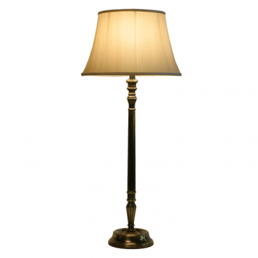 TL48-008 Tall Reeded Column Brass Lamp Base