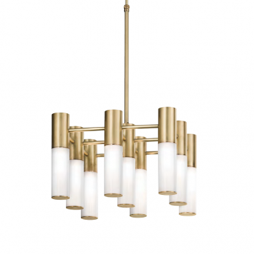 Etoile 9 Light Chandelier Natural Brass