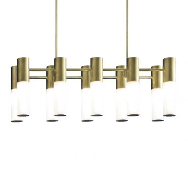 Etoile 10 Light Chandelier Natural Brass