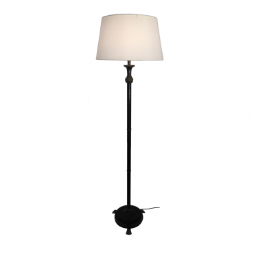 Shell Footed Bronze Floor Lamp Base