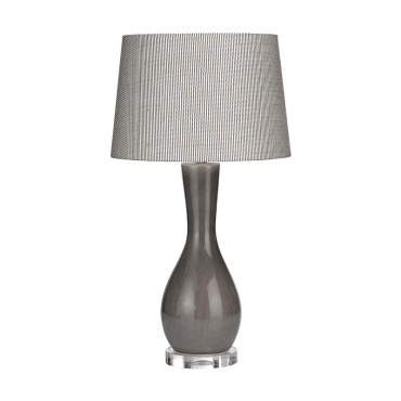 Radda Dark Grey Crackle Lamp & Shade