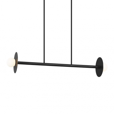 Nodes 2 Light Linear Pendant - Black