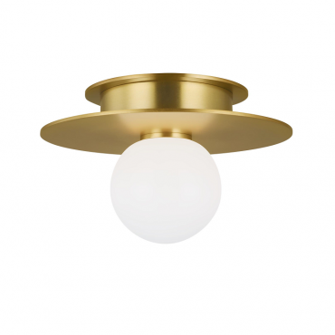 Nodes Small Flush Mount - Brass