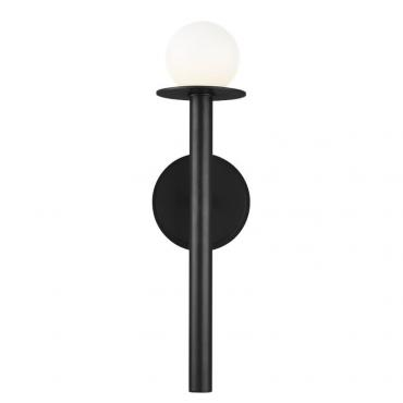 Nodes 1 Black Wall Light