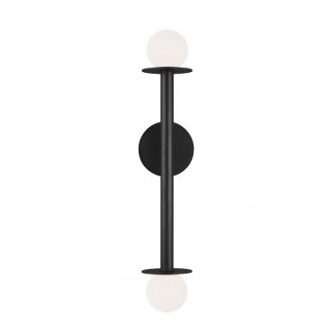 Nodes 2 Wall Light Black