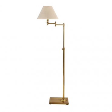 Swing Arm Brass Floor Lamp